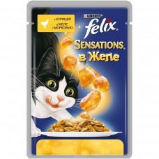 """Консервы для кошек Felix """"Sensations""""с курицей, 85 г"""